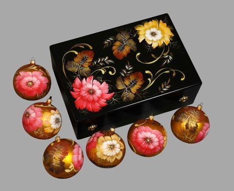 Набор из 6 елочных шаров в шкатулке SET04D-667785784