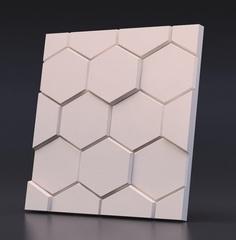 Декоративная гипсовая  3D панель  ГЕКСАГОН