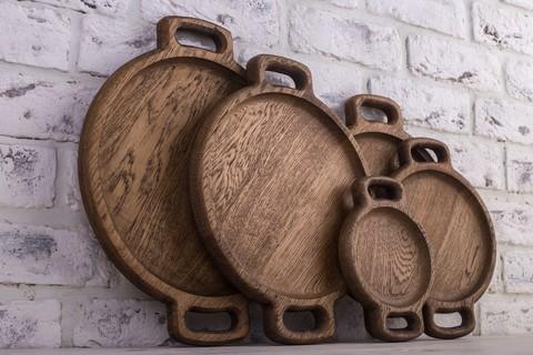 Фото представлено для сравнения размеров диаметров круглых тарелок: 14,20,24,27 и 30см