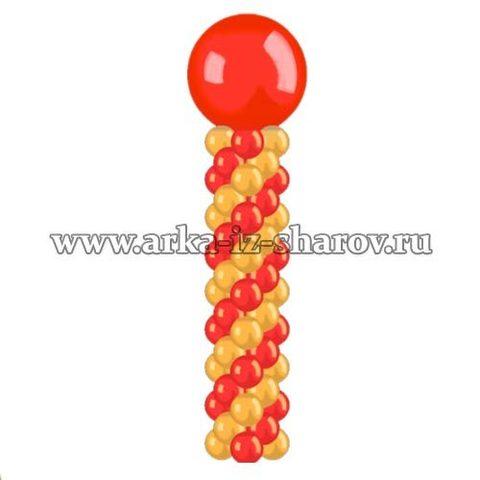 колонна из шаров