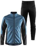 Элитный лыжный костюм Craft Sharp Softshell XC Storm Blue мужской