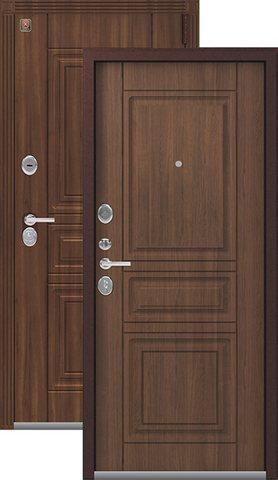 Тёплая дверь входная Легион L-4, 2 замка, 1,5 мм  металл, (медный муар+миндаль)