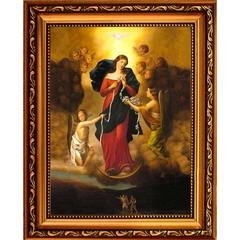 Развязывающая узлы. Икона Божией матери на холсте.