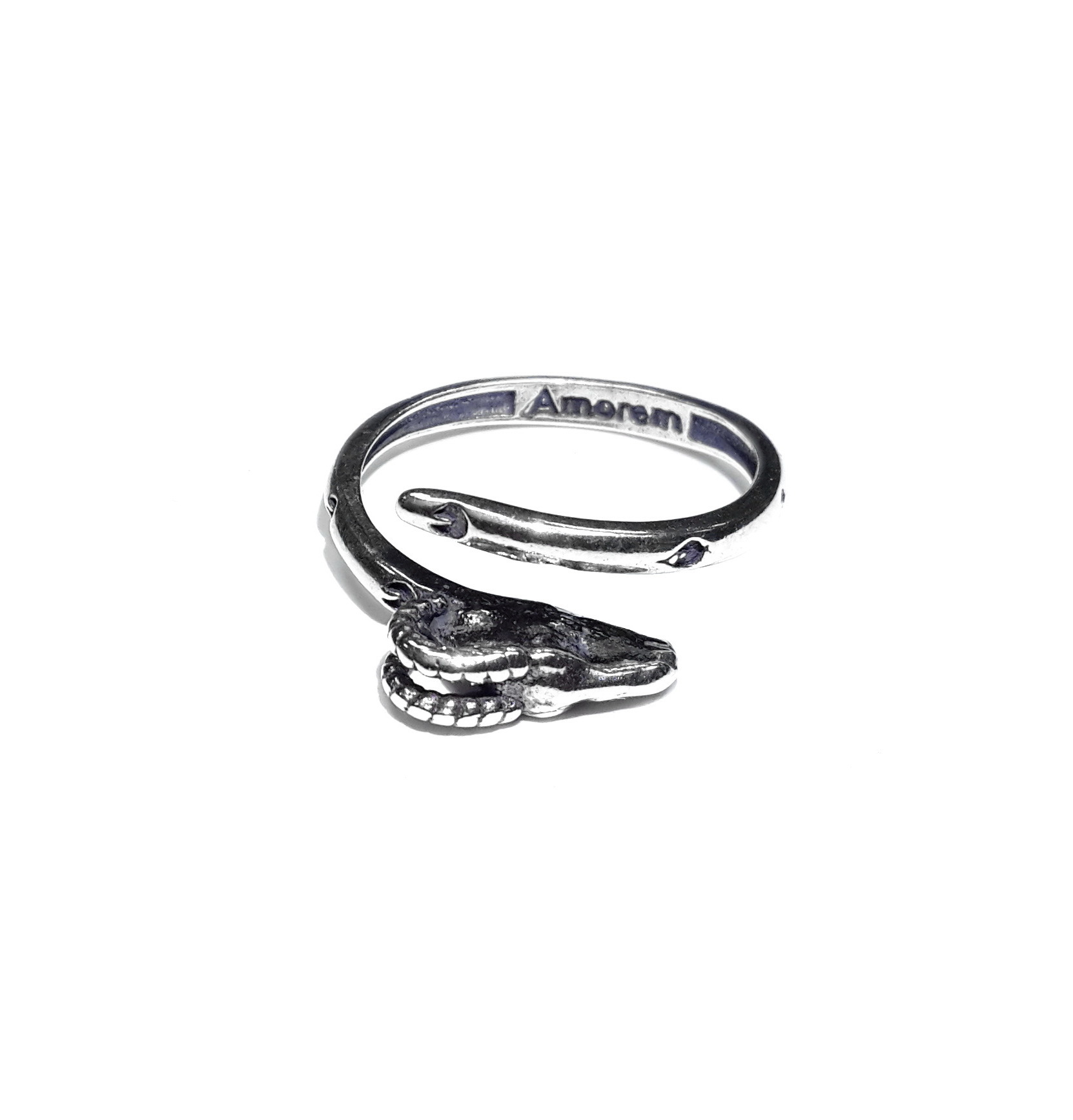 Ram Totem Ring, Sterling Silver