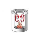 Урна для бумаг с защитой от возгорания (7 л), Стальной полированный, арт. 378928 - превью 3
