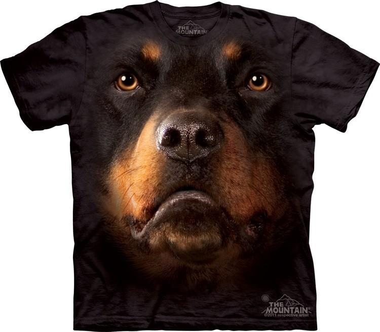 Футболка Mountain с изображением - Ротвейлер - Rottweiler Face