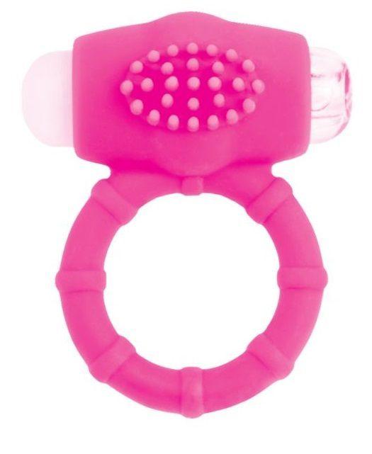 Эрекционные кольца: Розовое эрекционное виброкольцо A-toys