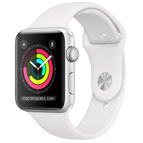 Watch S3 42mm Silver Al/White Sport Band