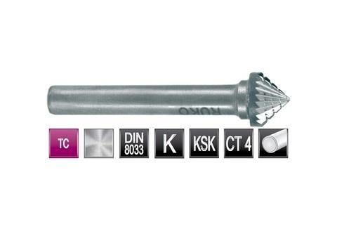 Бор-фреза Ruko твердосплавная K(KSK) 90° 3,0х3мм S=3мм 116227
