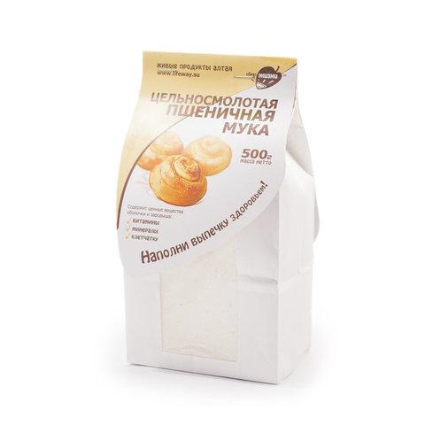 Цельносмолотая пшеничная мука 0,5кг (Образ жизни)