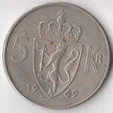 K5279, 1969, Норвегия, 5 крон