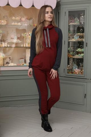 Спортивный костюм для беременных и кормящих 11362 бордовый