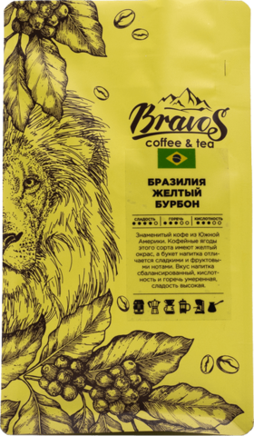 Зеленый кофе Бразилия Желтый Бурбон