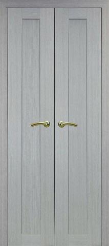 > Экошпон Optima Porte Турин 501.1 (двустворчатая), цвет дуб серый, глухая