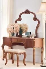 """Столик туалетный с зеркалом """"Лоранс (Lorans)"""" —  Карамельный дуб (MK-5403-СO)"""