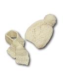 Шапка и шарф - Белый. Одежда для кукол, пупсов и мягких игрушек.