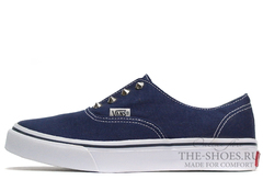 Кеды Vans Classic Slip-on Blue White Thorns