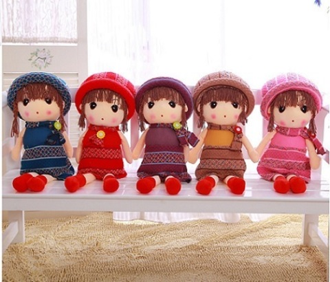 Soft Doll Dresses Knitted 40см