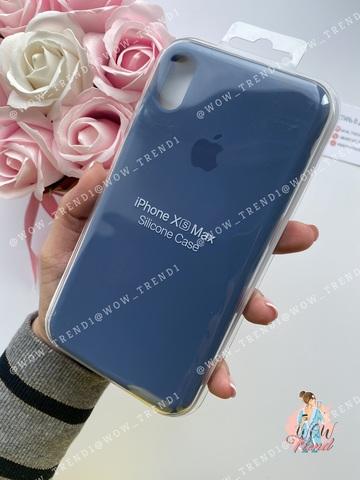 Чехол iPhone XS Max Silicone Case /alaskan blue/ морской лёд 1:1