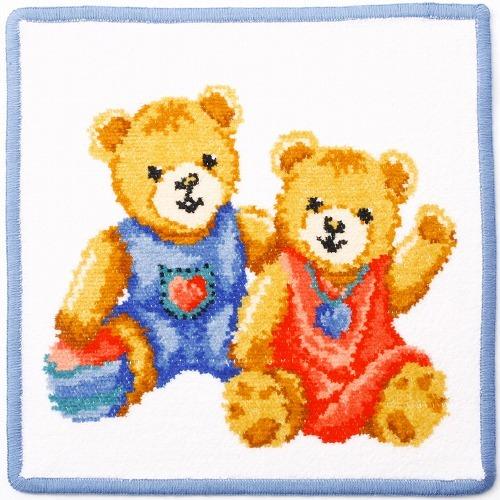 Полотенце детское 25x25 Feiler Teddy Kids голубое