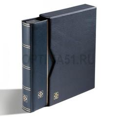 Кляссер для марок PREMIUM на 32 страницы формата А4, смягченная кожаная обложка, слипкейс