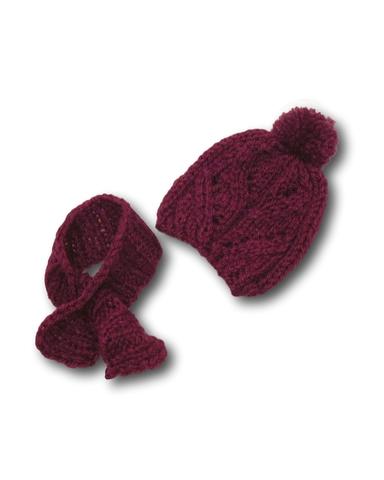 Шапка и шарф - Лиловый. Одежда для кукол, пупсов и мягких игрушек.