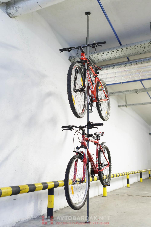 Подвес для велосипеда с креплением на телескопическую распорку