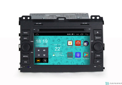 Штатная магнитола 4G/LTE с DVD для Toyota Land Cruiser Prado 120 02-09 Android 7.1.1 Parafar PF456D