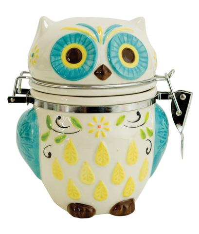 Банка для сыпучих продуктов Boston Warehouse Floral Owl