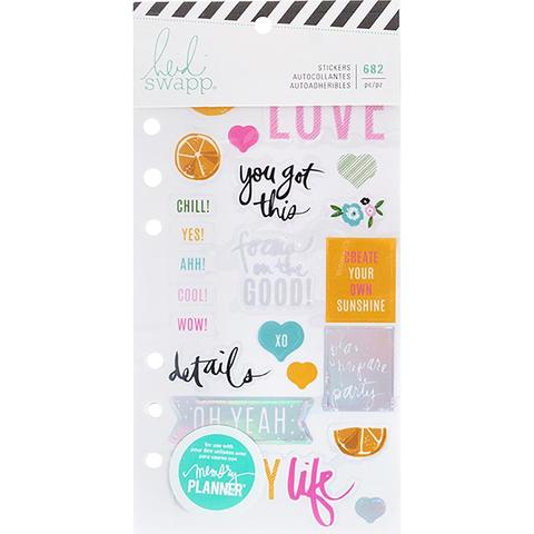 Стикербук - Heidi Swapp Memory Planner Cardstock Stickers - Fresh Start, Playful-682 шт