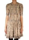 Платье из шерсти и хлопка. Цвет бежевый/зеленый M MISSONI
