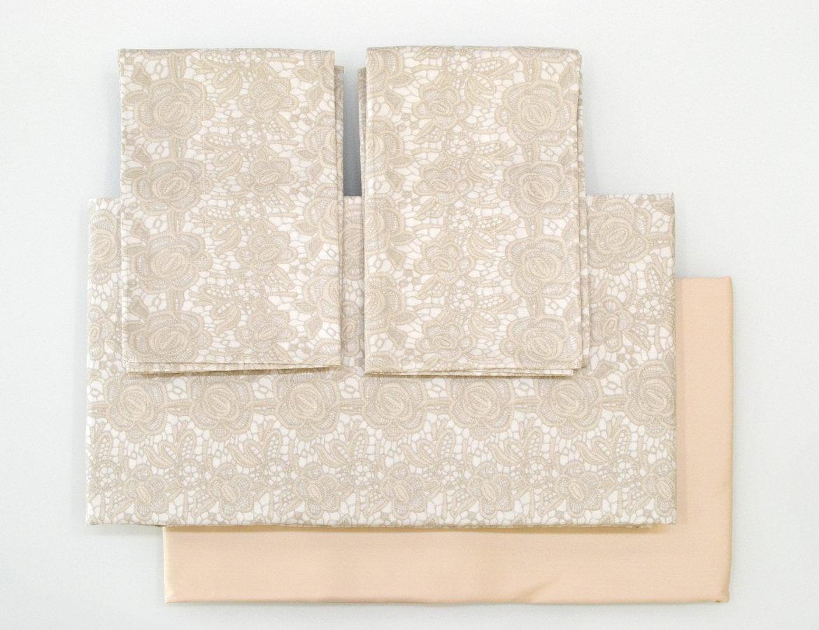 Постельное Постельное белье семейное Blumarine Macrame бежевое elitnoe-postelnoe-belie-macrame-ot-blumarine.jpg