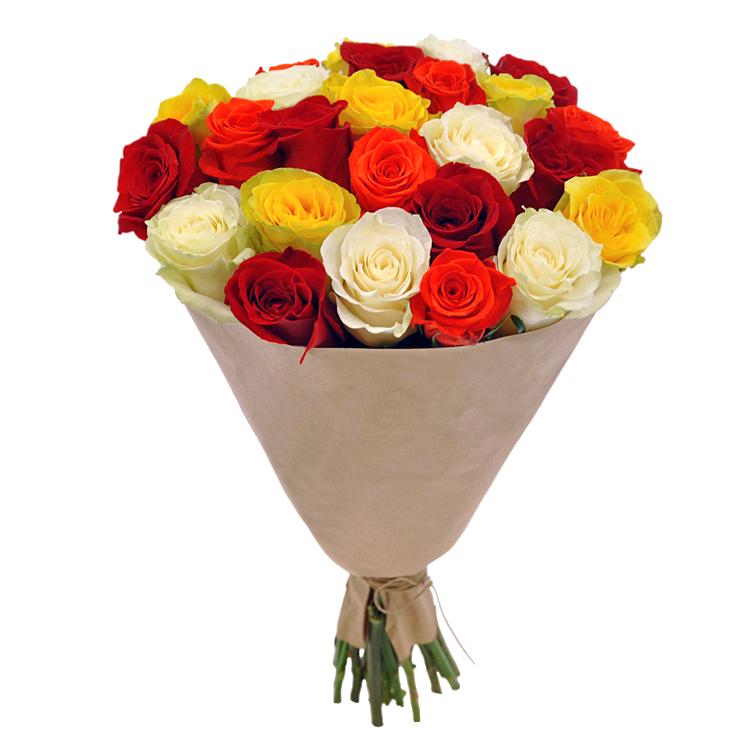 Купить недорогой букет 25 роз в Перми
