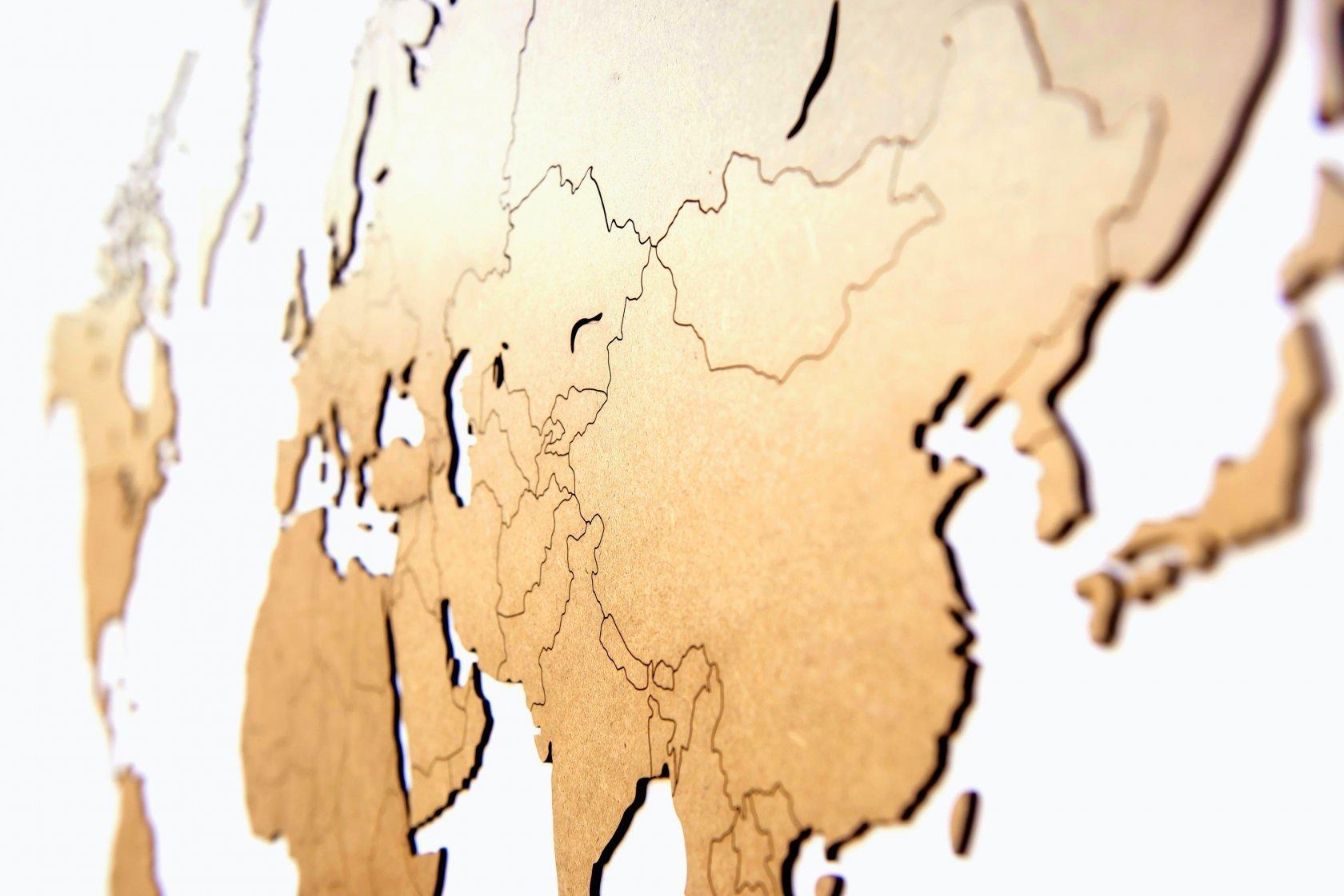 "Карта мира ""Wall Decoration Brown"", 180*108 cм - 3"