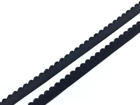 Резинка отделочная черная 12 мм Lauma