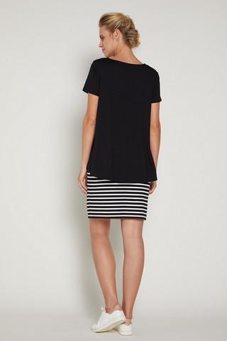 Платье 09381 черно-белый