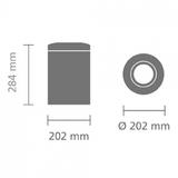 Урна для бумаг с защитой от возгорания (7 л), Стальной полированный, арт. 378928 - превью 6