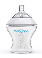 Бутылочка для кормления антиколиковая BabyOno Natural Nursing. 180 мл