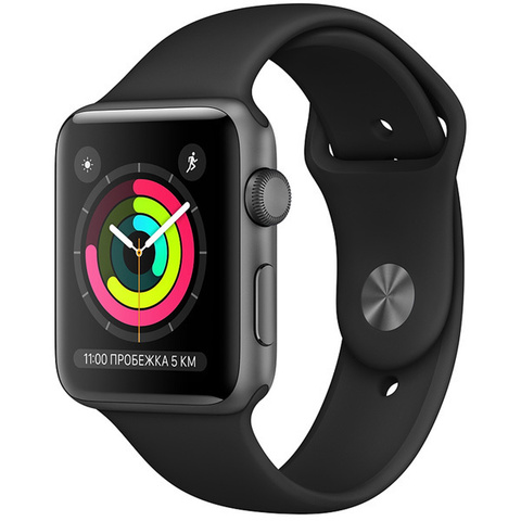 Watch S3 42mm Space Grey Al/Black Sport Band