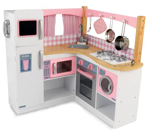 KidKraft Изысканный уголок Grand Gourmet Corner Kitchen - большая угловая детская кухня 53185_KE