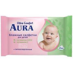 """Салфетки влажные """"Aura"""" Ultra Comfort для детей 15шт"""