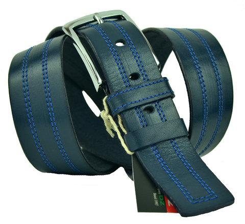 Ремень мужской синий джинсовый 40Diezz-p-015