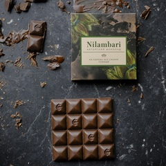Шоколад Nilambari на кэробе темный без сахара, 65 г