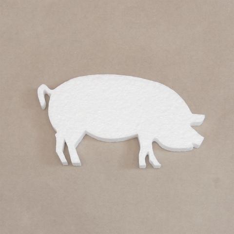 Свинья из пенопласта