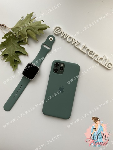 Ремешок Apple watch 38/40mm Sport Band /pine green/ сосновый лес