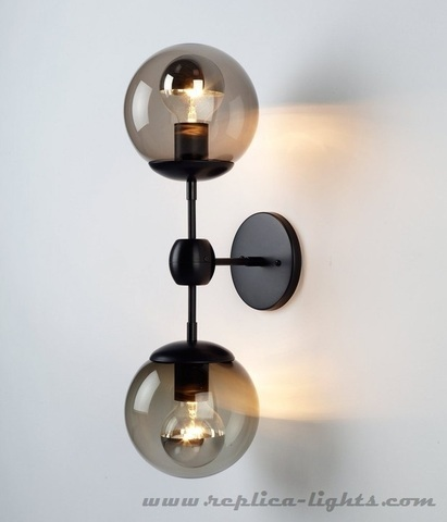 replica wall lamp  Modo  by ROLL and HILL - 2 Globes ( white )
