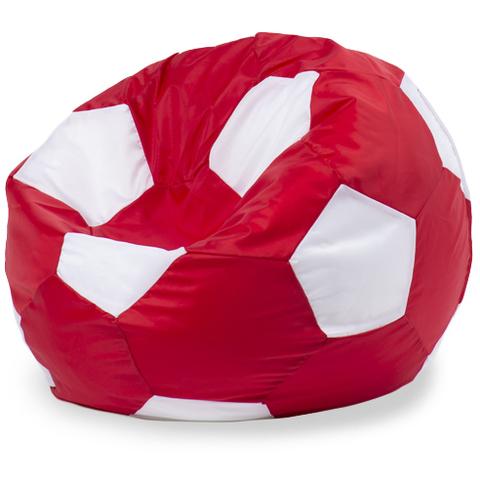 Бескаркасное кресло «Мяч» L, Красный и белый