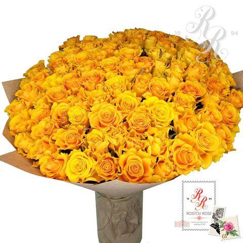 Букет 51 местная желтая роза