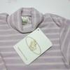 Джемпер розовый в молочную полоску из шерсти мериноса