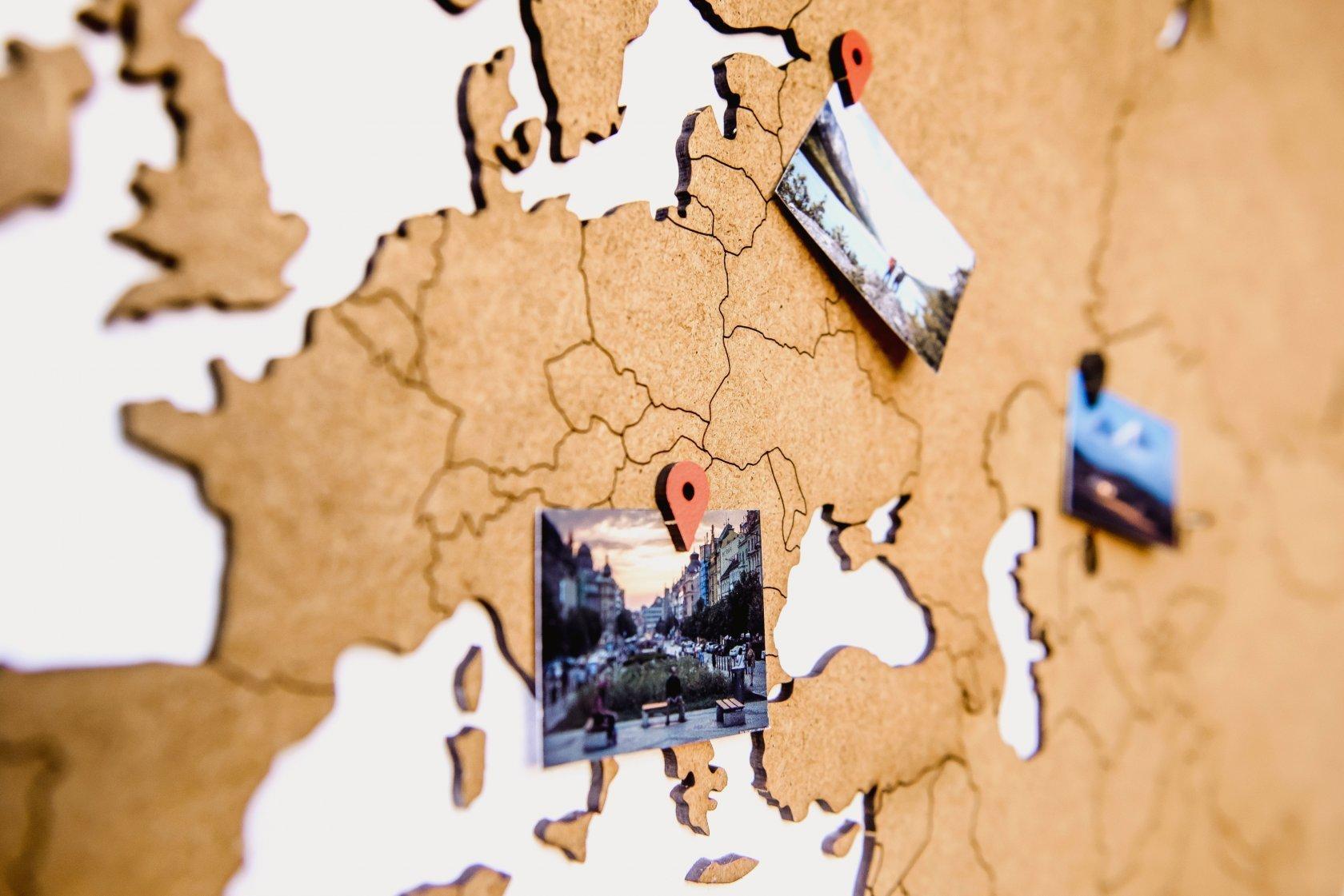 "Карта мира ""Wall Decoration Brown"", 180*108 cм - 1"